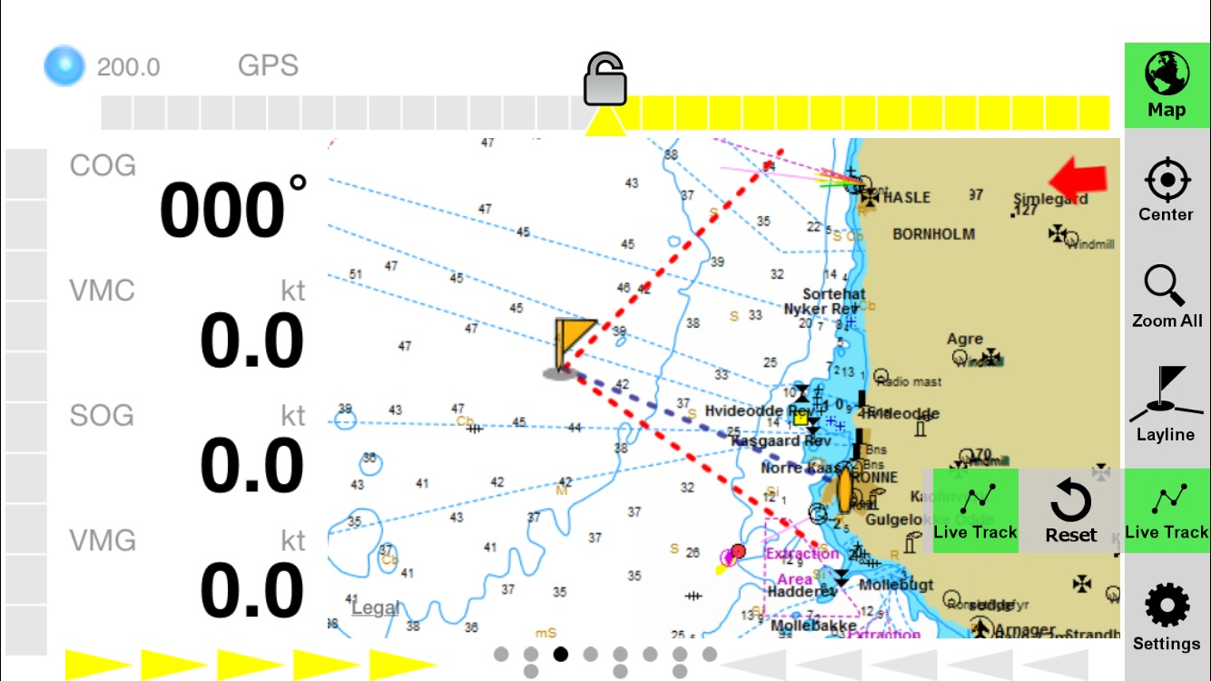 Iregatta User Manual Ios Zifigo Sea Pro Boat Instrument Wiring Diagram On The Right Side Youll Get A Column With Buttons To Configure Your Map View